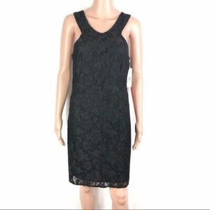 Laundry By Design, Black Lace Shift Dress